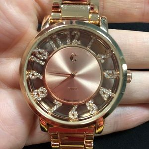 Rose Gold Sparkly Watch